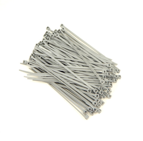 "Zip Cable Ties 4"" 18lbs 100pc GRAY Made in USA Nylon Wire Tie Wraps"