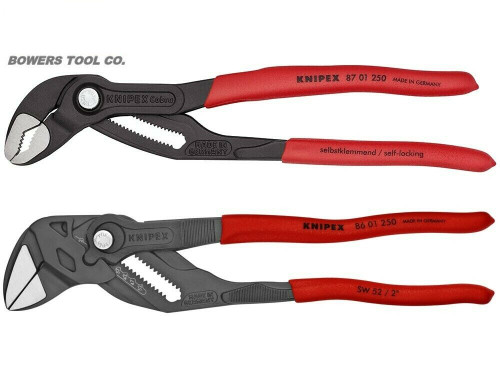 """Knipex 10"""" Cobra & Adjustable Pliers Wrench Set with Black Finish Hybrid Germany"""