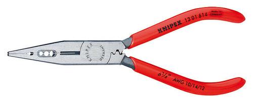 Knipex Electricians Long Nose Pliers 1301614 Cut Strip Crimp 10, 12, 14 AWG