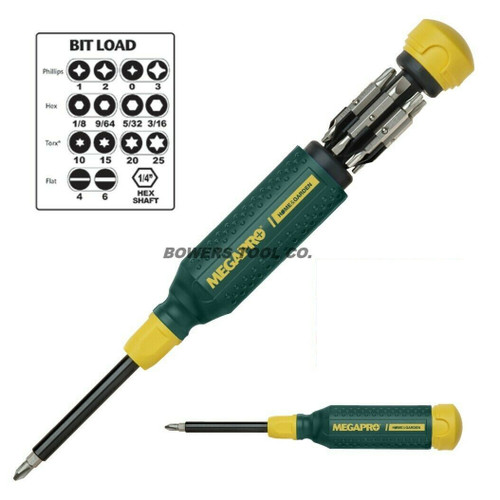 Megapro 15-1 Multi Bit Screwdriver 15 in 1 Home & Garden 151HG Made in USA