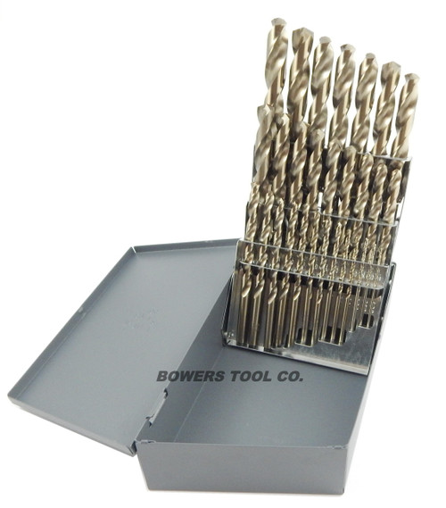 Cle Line 29pc COBALT M42 Drill Bit Set 1/16-1/2 Jobber Lengths Made in USA