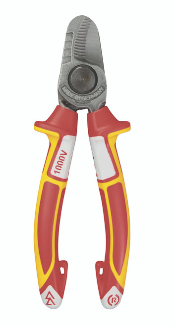 "Felo 6-1/4"" Cable Wire Cutter Shears 19/32 Capacity 1000v VDE Comfort Grip 63805"