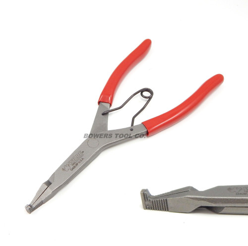 "Wilde 9"" Right Angle 90 Degree Lock Ring Pliers Snap Retaining Satin Finish USA"