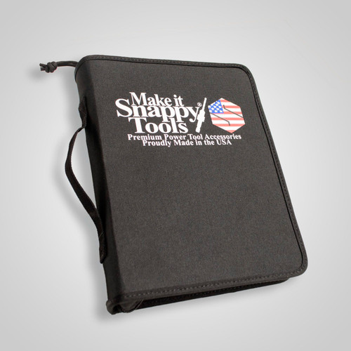 Snappy Deluxe Woodworking Tool and Bit Book Case 30 Bits Plus Pouch Made in USA