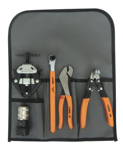 Lang Battery Service Kit 5pc Terminal Pliers Wrench Brush Spreader Puller 41701