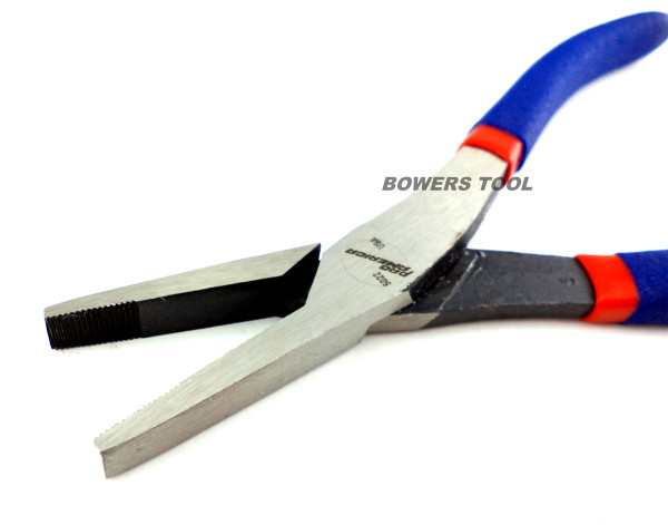 """Pro America 8"""" Duck Bill Pliers Flat Nose Serrated MADE IN USA Plier 718"""