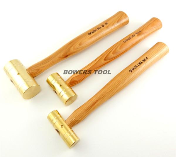Grace USA 4 8 & 16oz Brass Hammer Set Gunsmith Gun Care Machinist MADE IN USA