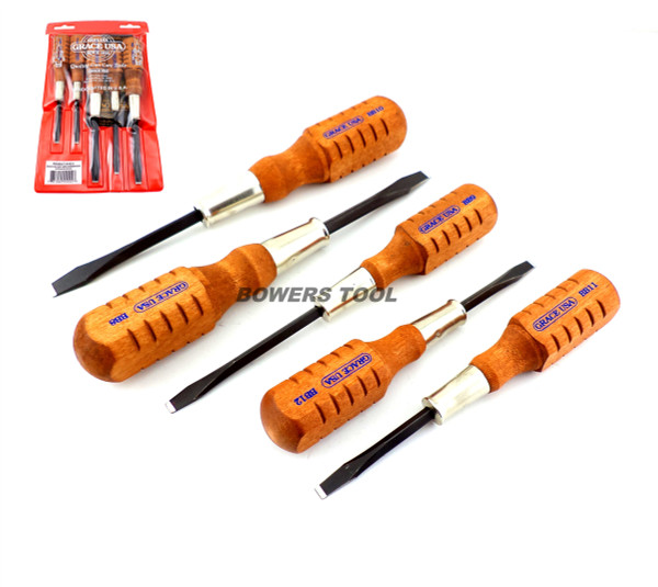 Grace USA 5pc Flat Slotted Screwdriver Set for Browning Gun Care HG-5 USA MADE