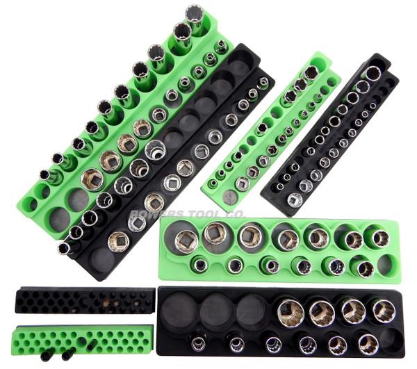 "Magnetic Socket Holder Set 8pc Mechanics Time Saver 1/2"" 3/8"" 1/4"" Drive MTS GB"