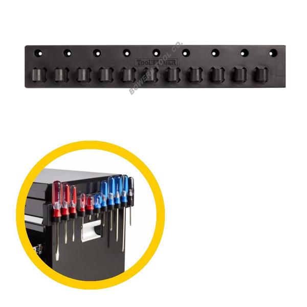 Hansen Magnetic Screwdriver Organizer Holder Rail 11 Slot Made in USA ToolHanger