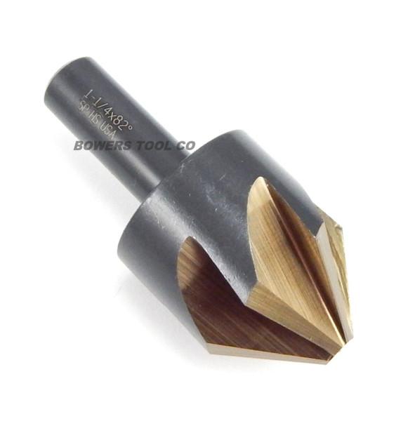 "Norseman 1-1/4"" Countersink 82 Degree 6 Flute Hi-Molybdenum M7 Made in USA 67780"
