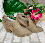 AB Taupe Side Cut Bootie
