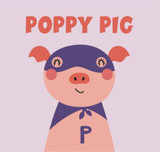 Pink Picasso Paint by Number Kids Super Hero Pig PPK-KIDSHP