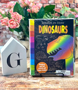 Dinosaurs Scratch and Draw Book