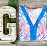 Simply Southern Beach Cover Up Palms Pattern