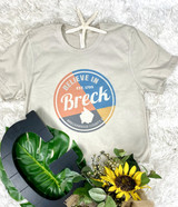 Believe in Breck Bella Softstyle Heather Dust T-shirt