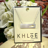 Golden Stella Silver State Bar Necklace Khloe Collection