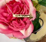Golden Stella State Name Necklace  Gold