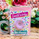 Feelin Smitten Donut Worry Bath Card
