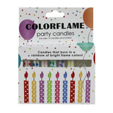 Faire Color Flame Birthday Candles 12 Pack