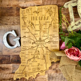 Destination Indiana Cutting and Serving Board