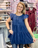Simply Southern Navy Embroidered Top