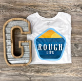 Rough Life Badge White Swim Shirt