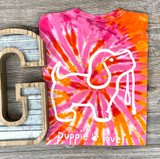 Puppy Love Sunset Tie-Dye Shirt