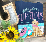 Simply Southern Flip Flops Navy
