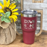 Raised Up Down Home 30 oz Tumbler Breck County Maroon