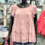 Tiered Babydoll Mauve Top