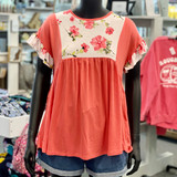 Babydoll Ruffle Floral Top