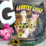 Simply Southern Chick Dark Heather Gry LS
