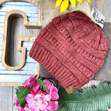 C.C. Speckled Maroon Beanie MB