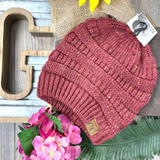 C.C. Beanie MB Speckled Maroon