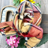KD Blanket Scarf Red/Yellow