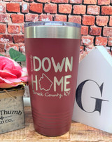 Raised Up Down Home 20oz Tumbler Breck County Maroon