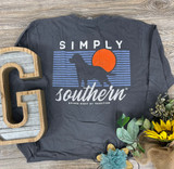 Simply Southern Sunset Graphite LS tshirt
