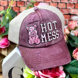 Simply Southern Hot Mess Ponytail Hat