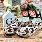 Simply Southern Slip On Cow Print  Shoes