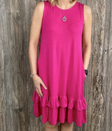 AC Fuchsia Alex Ruffle Dress