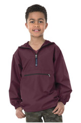 Charles River  CRA 8904 Pack N Go Pullover Maroon