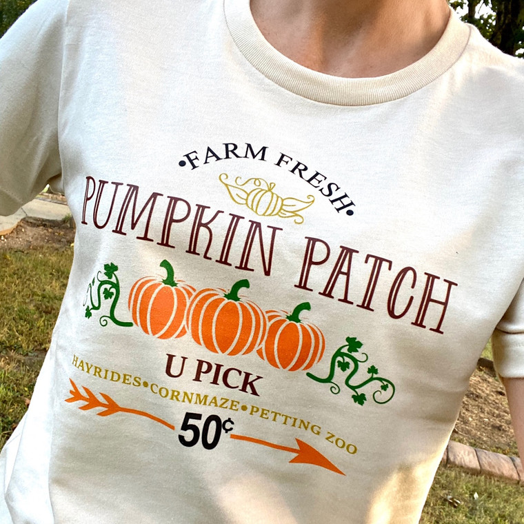 Farm Fresh Pumpkin Patch U Pick Bella tshirt Soft Cream