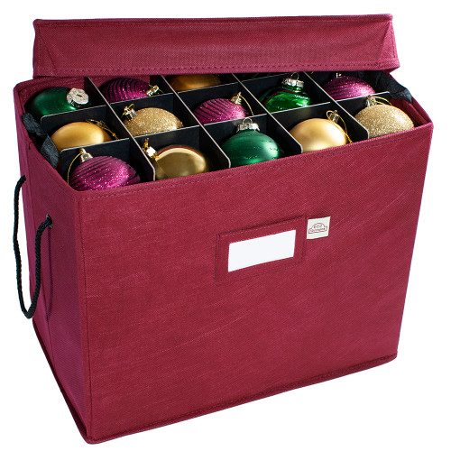 Christmas Ornament Storage Box with Removable Trays, Holds 60 - 3