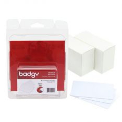 Evolis CBGC0020W PVC BLANK CARDS - WHITE - 20MIL - 0.50MM - 1 pack of 100 cards