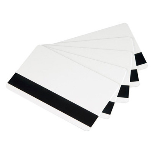 Zebra 104523113 Zebra white PVC cards, 30 mil high coercivity magnetic stripe (500 cards)