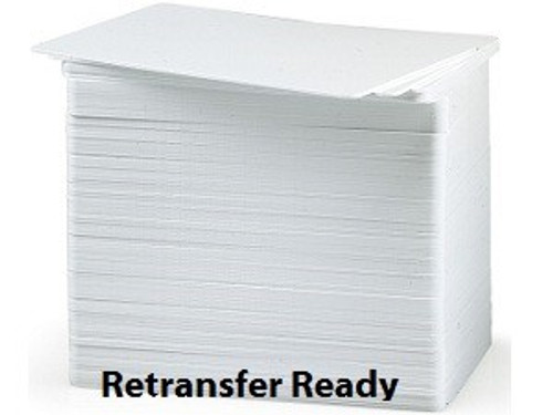Zebra 104523811 CARD,PVC,30MIL,RETRANSFER READY,500/BOX