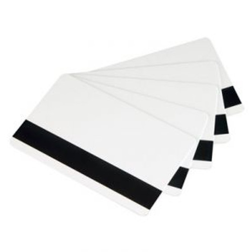 Zebra 104524-103 Zebra white composite cards, 30 mil high coercivity magnetic stripe (500 cards)
