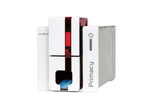 Evolis PM1H0000LS Primacy LCD Simplex Expert  Fire Red Printer with Touch Screen LCD display, USB & Ethernet, with Cardpresso XXS software licence