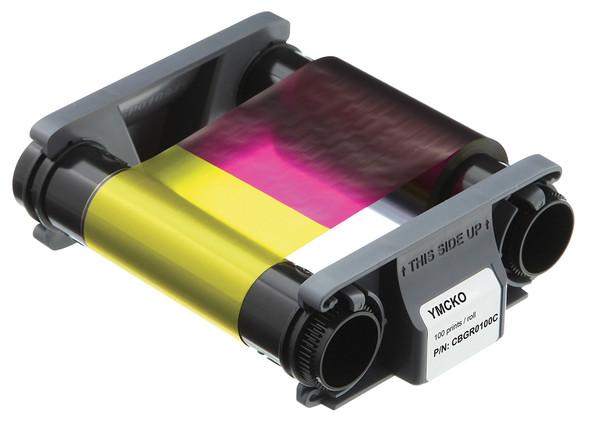Evolis CBGR0100C YMCKO color ribbon - 100 prints / rolls